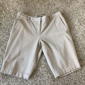 WHBM khaki color bermuda shorts